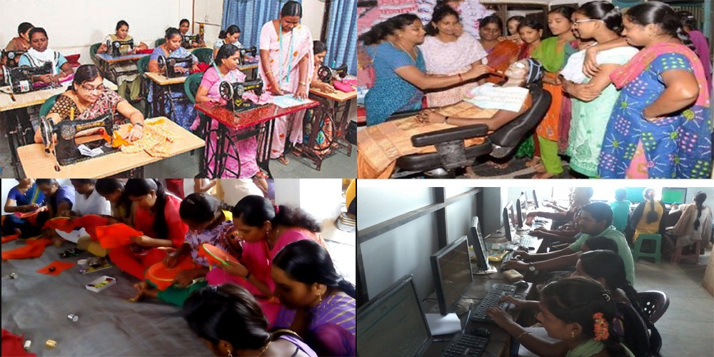 Employment training  program for women n free education for farmers children' covid 19 pandamic.